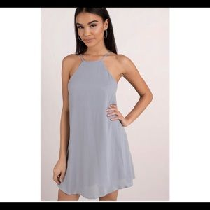 Periwinkle high neck dress
